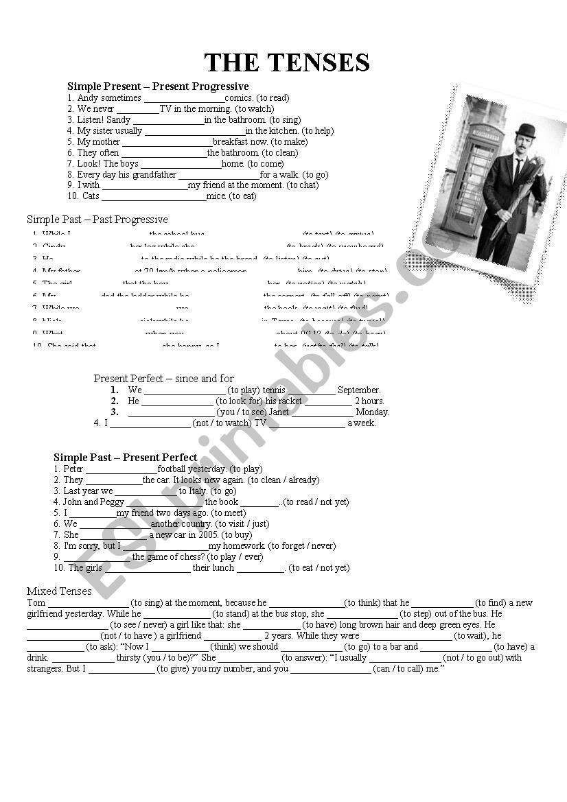 Grammar Worksheets 8th Grade Mixed Grammar 8th Grade Different Tasks Simple Present