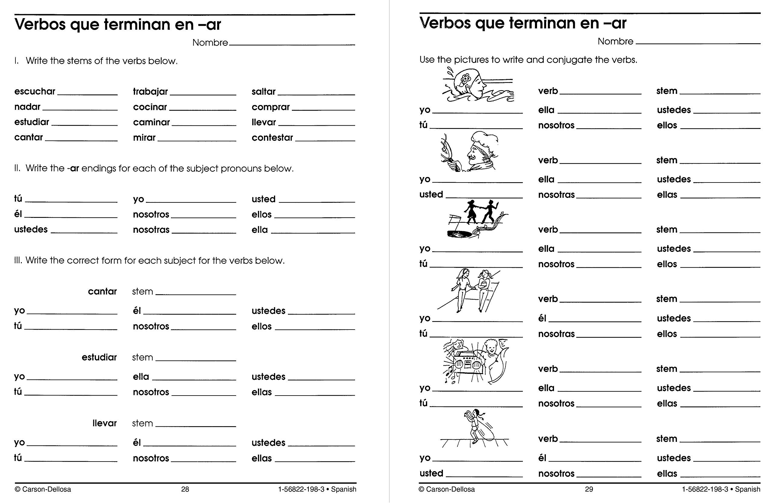 Grammar Worksheets for Middle School Amazon Carson Dellosa