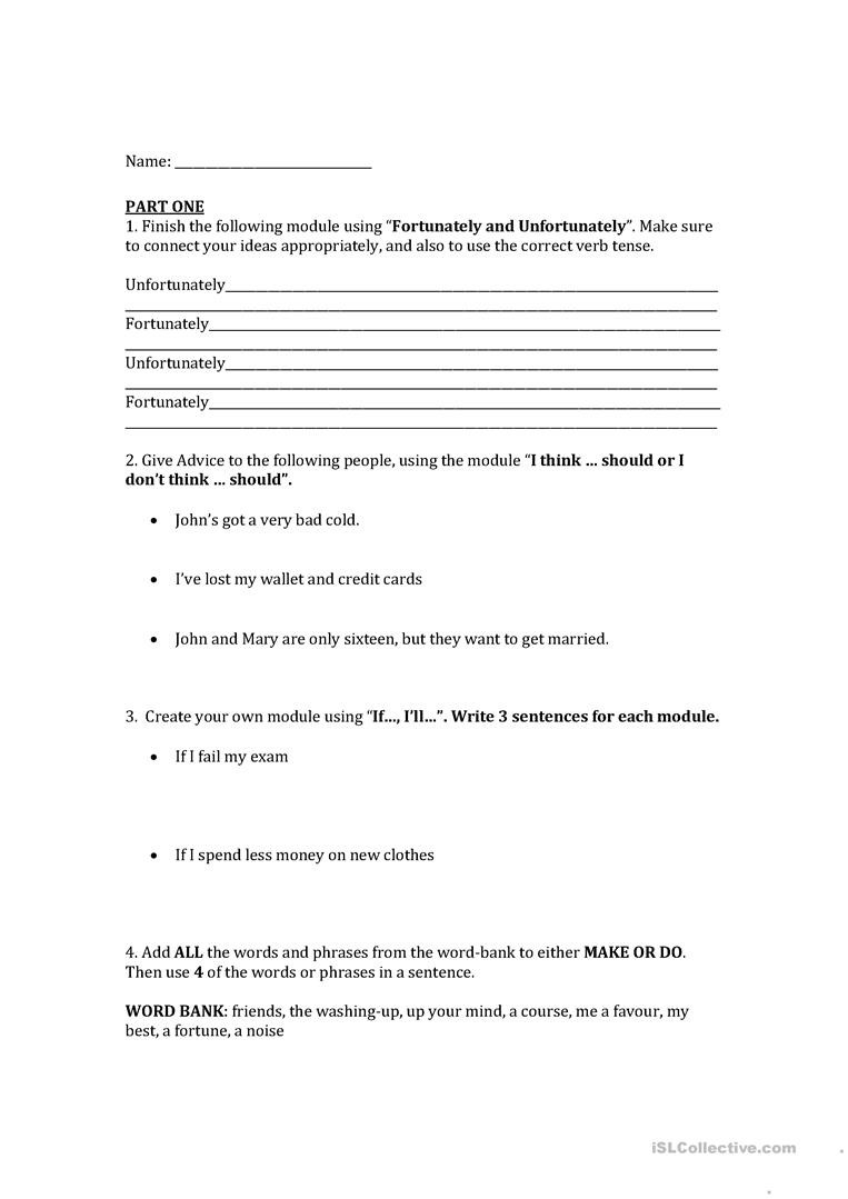 Grammar Worksheets for Middle School High School Grammar English Esl Worksheets for Distance