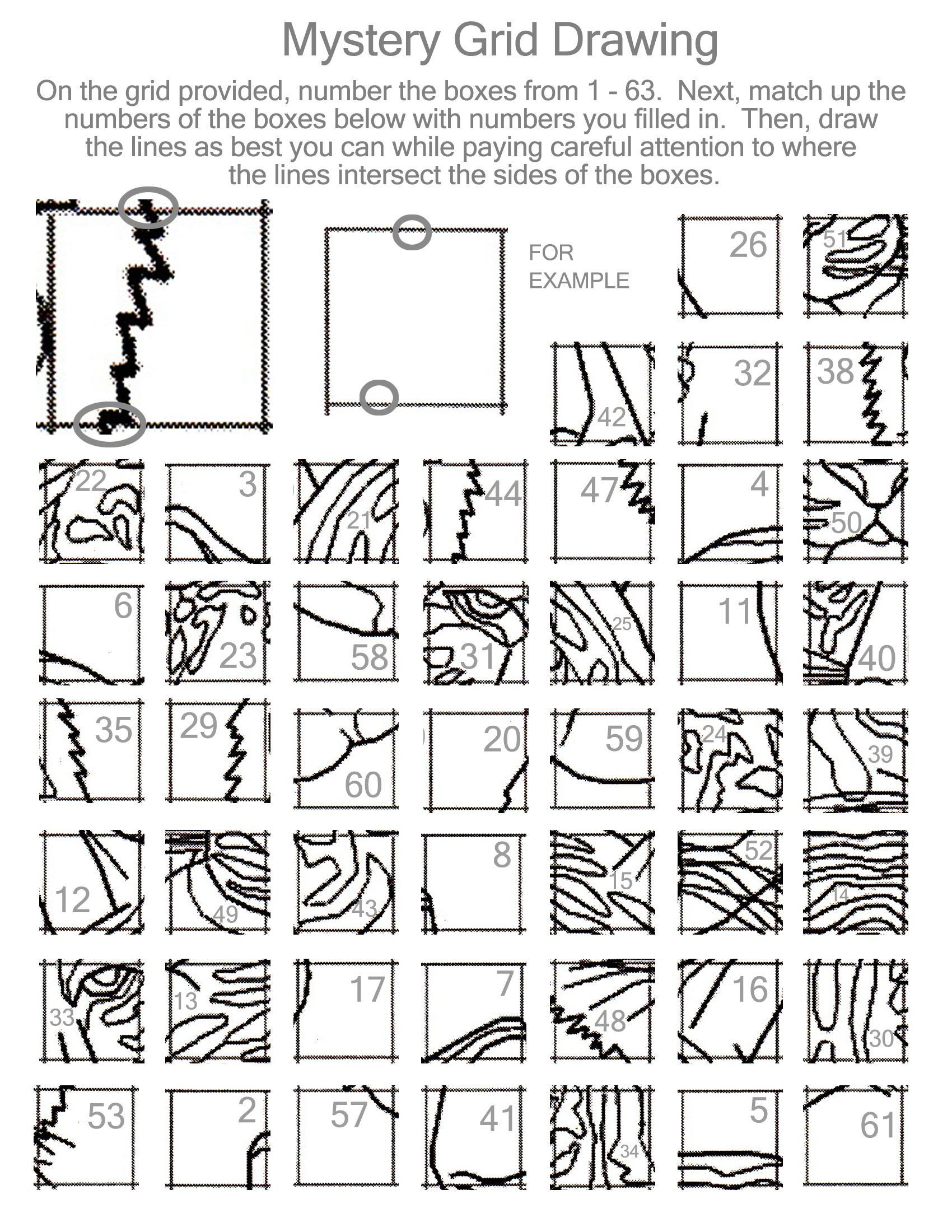 Grid Drawing Worksheets Middle School Grid Drawing Activity 25 Worksheet