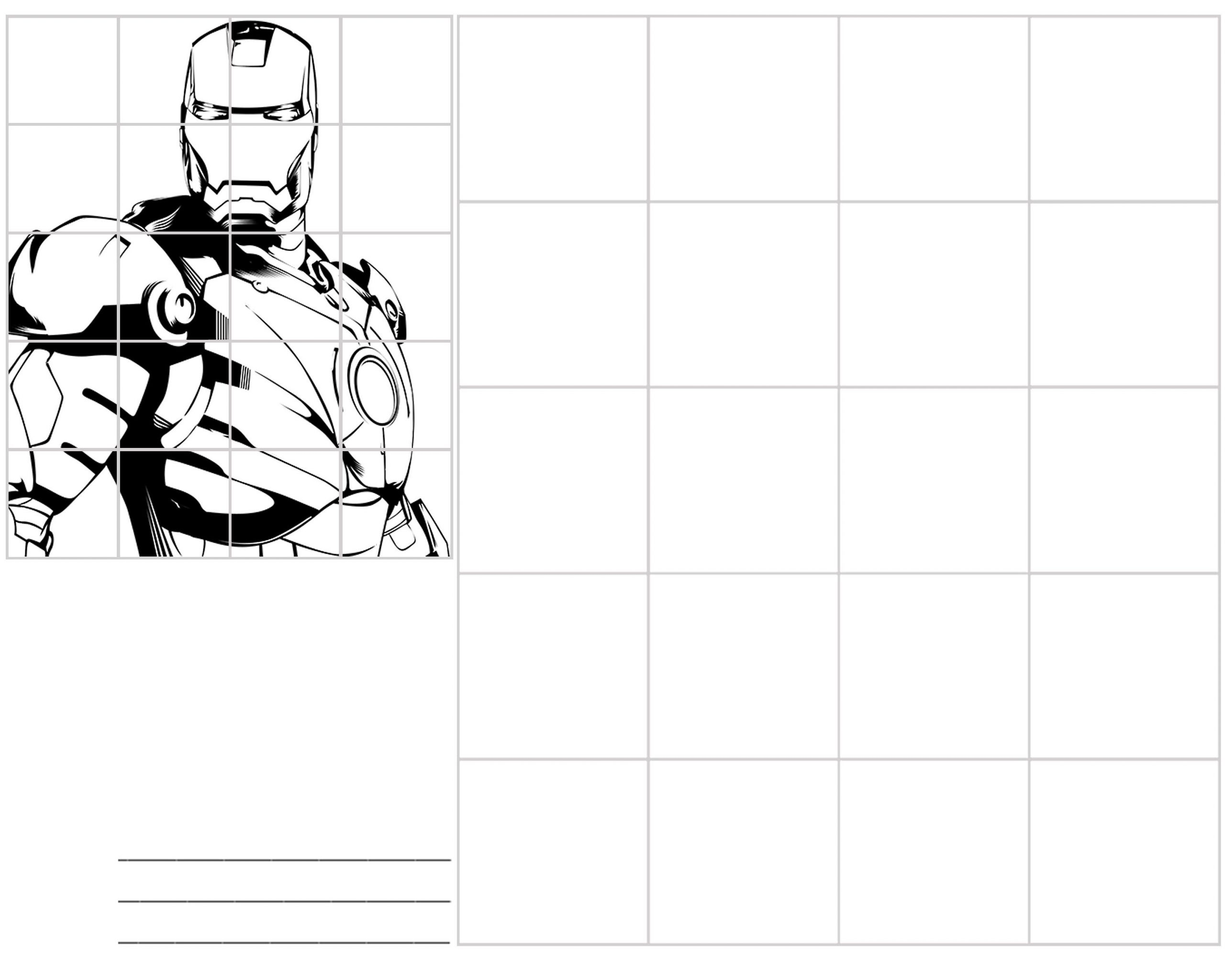 Grid Drawing Worksheets Middle School Ironman 3a