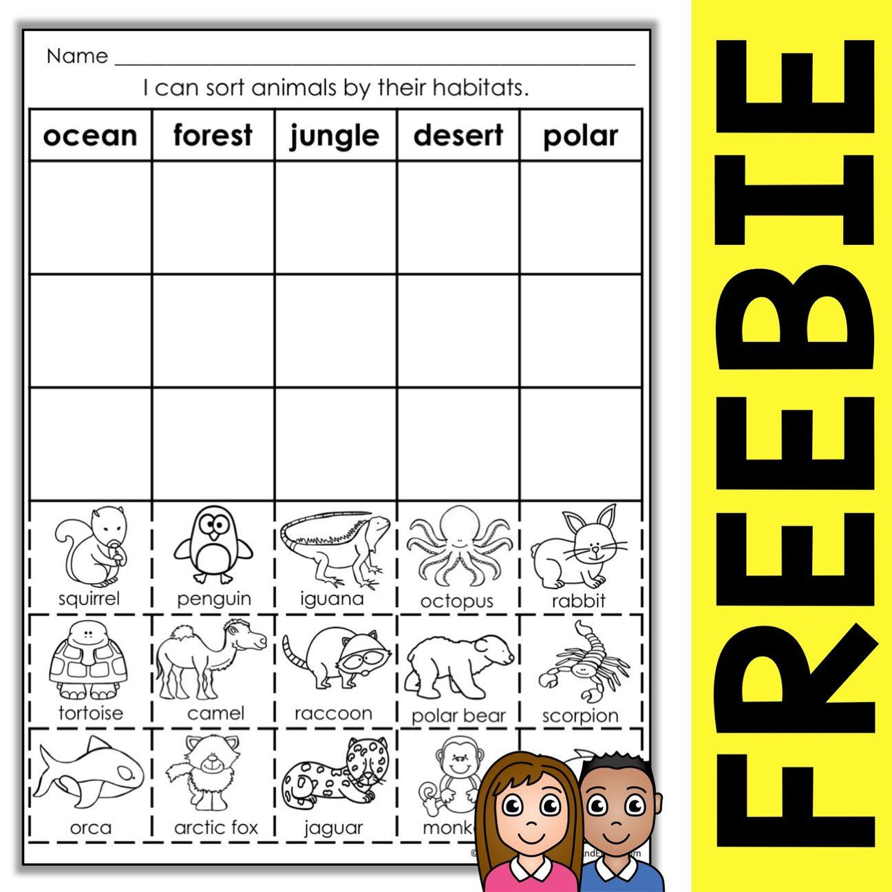 Habitat Worksheets for 1st Grade Free Animal Habitat sort Activity – Nicole and Eliceo