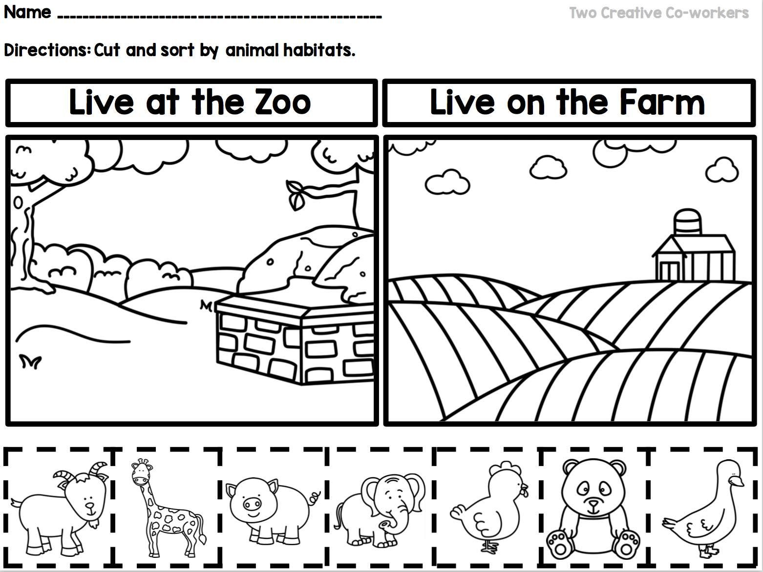 Habitat Worksheets for 1st Grade This sorting Worksheet is A Great Way to Teach Your