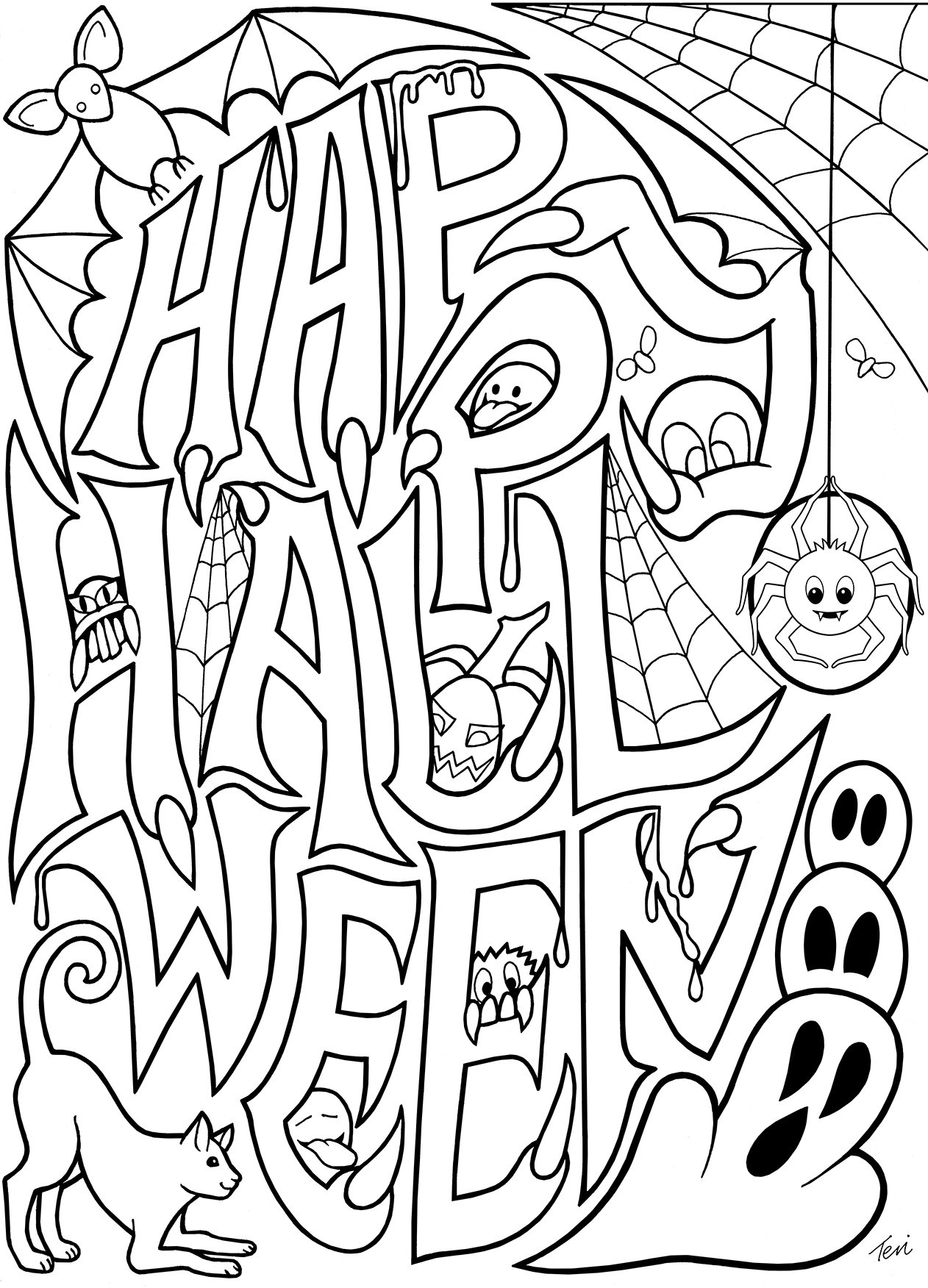 Halloween Math Coloring Worksheets Math Worksheet Coloring Books Free Printableween Children