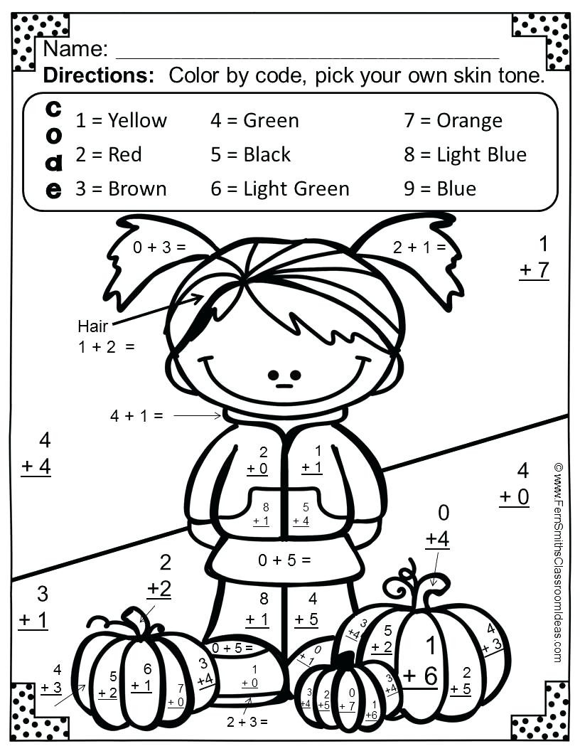 Halloween Math Coloring Worksheets Math Worksheet Math Worksheet Halloween Coloring Pages