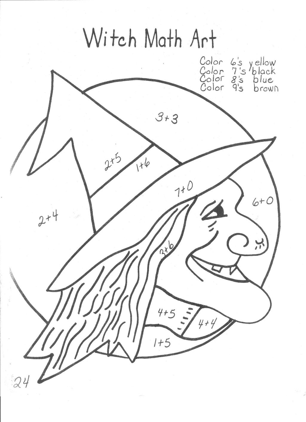 Halloween Math Coloring Worksheets Worksheet Halloween Coloring Pages Free Printableh 2nd