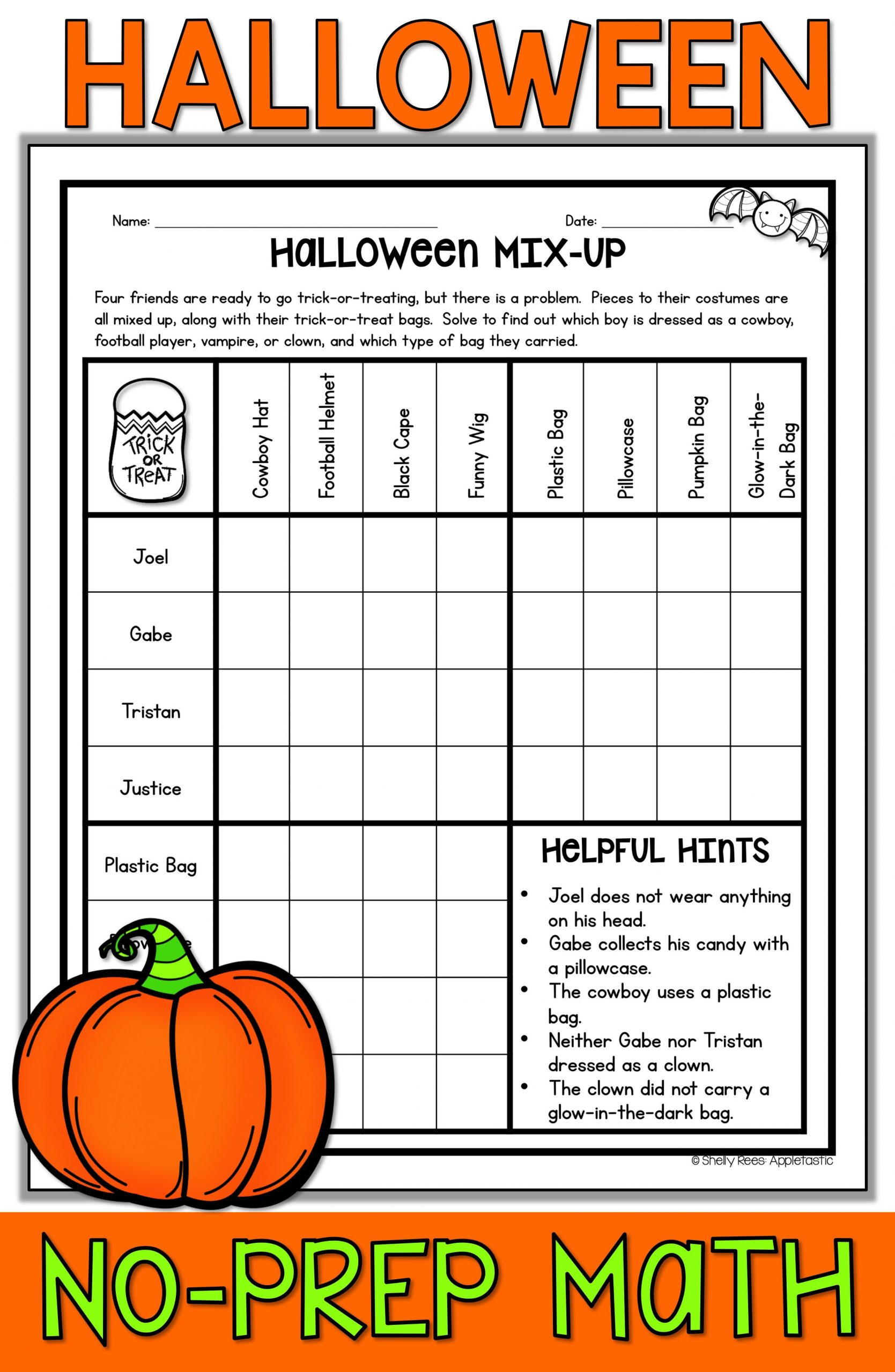 Halloween Math Worksheets Middle School Halloween Math Worksheets