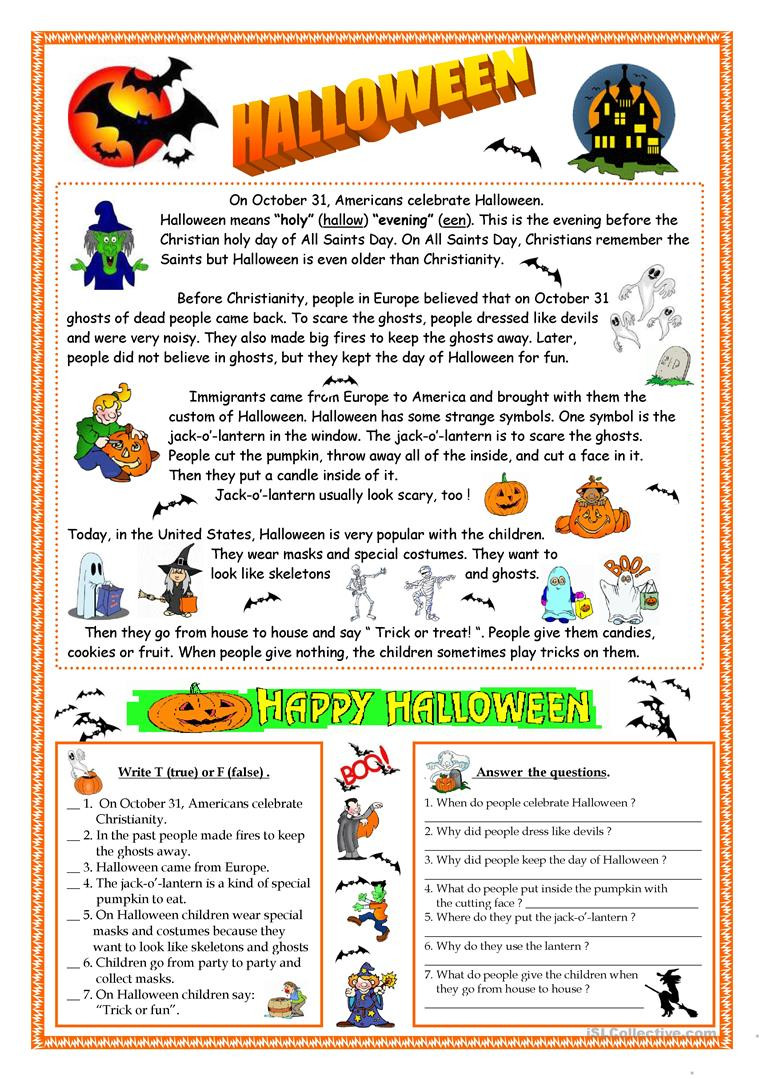 Halloween Worksheets for 2nd Grade English Esl Halloween Worksheets Most Ed 568 Results