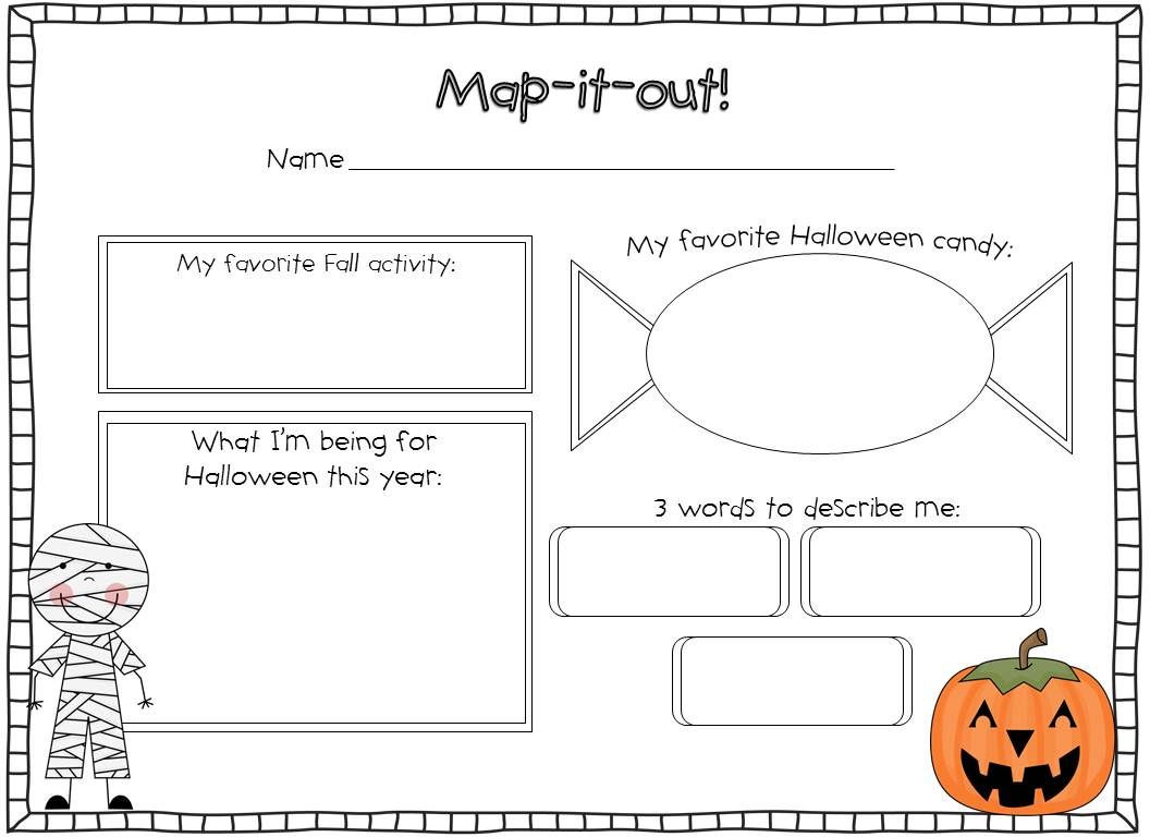 Halloween Worksheets for 2nd Grade Halloween Activities