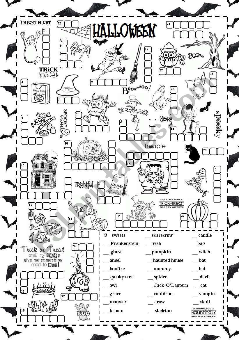 Halloween Worksheets for 2nd Grade Halloween Esl Worksheet by Silvanija
