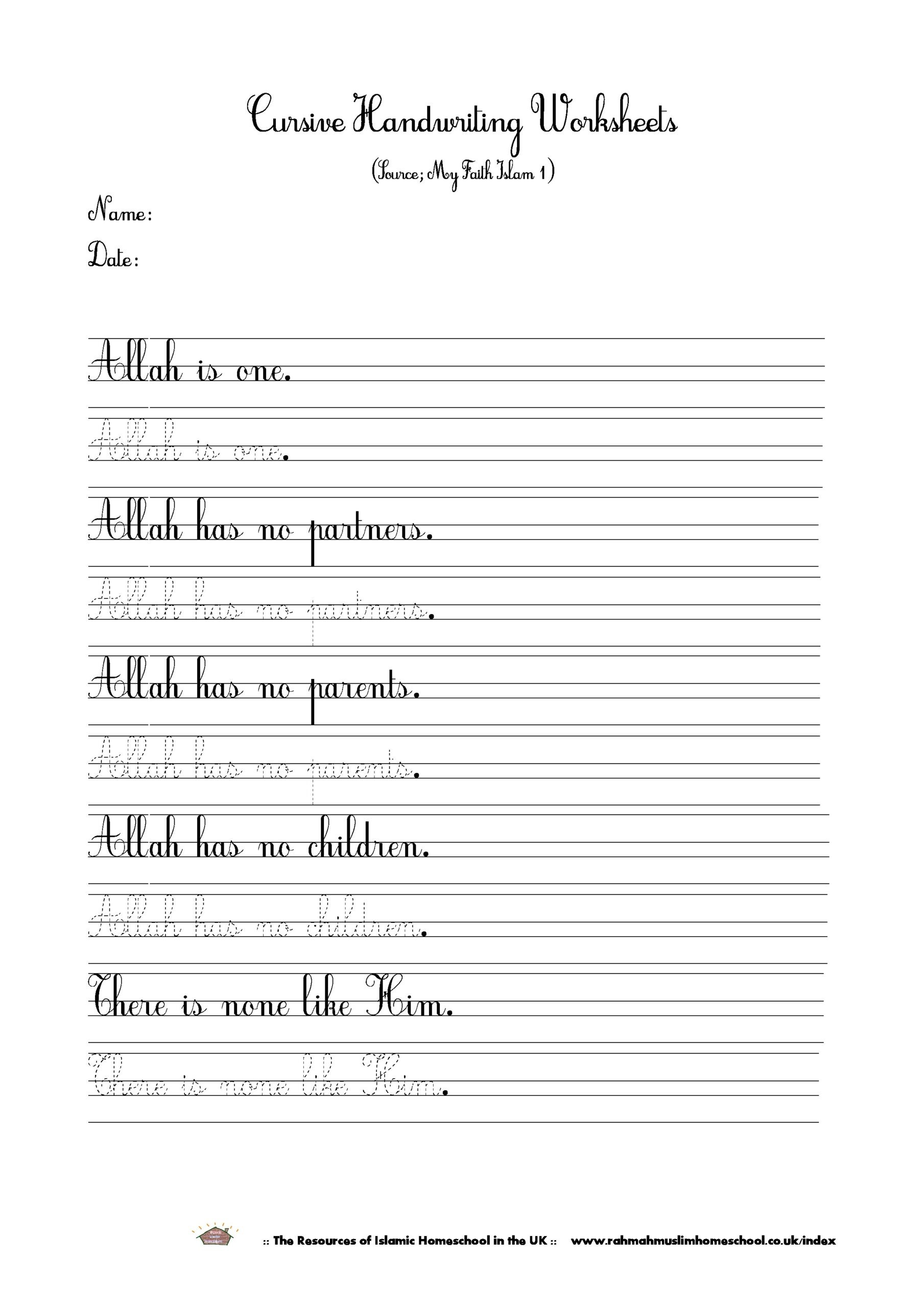 Handwriting Worksheets for Older Students Dnealian Cursive Handwriting Worksheets