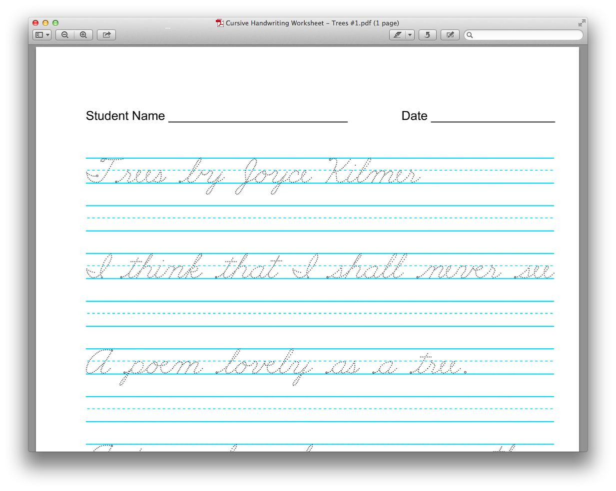 Handwriting Worksheets for Older Students Useful and Free Resource Customize Your Copywork