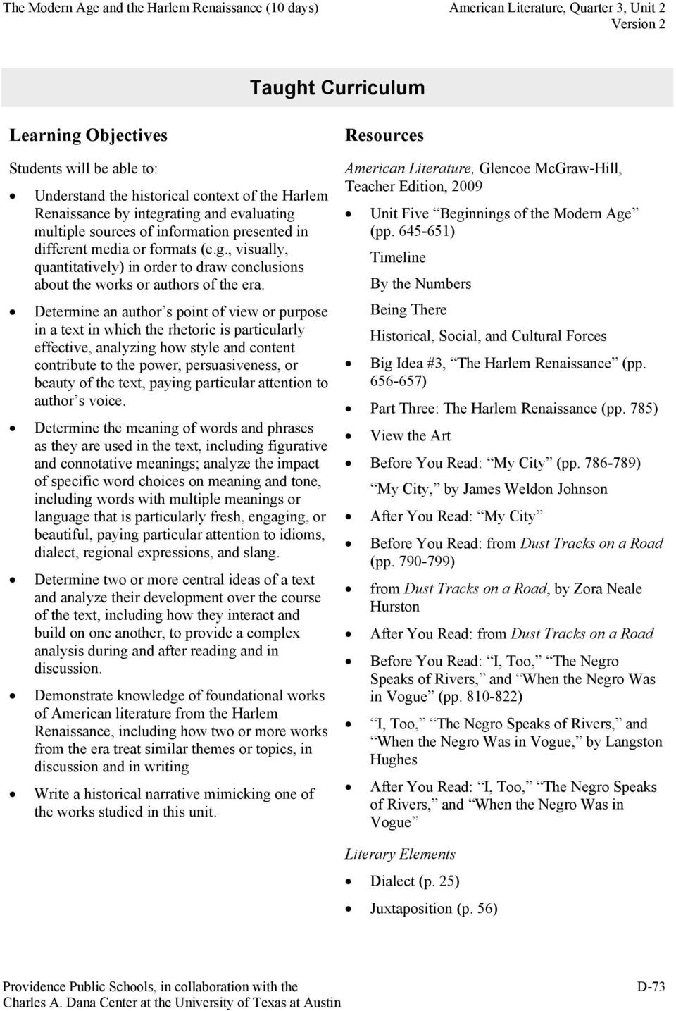 Harlem Renaissance Reading Comprehension Worksheets American Literature Quarter 3 Unit 2 Of 3 the Modern Age