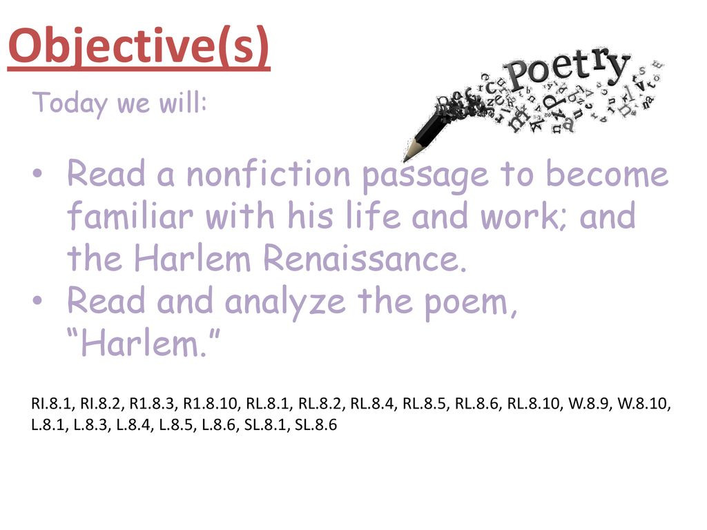 Harlem Renaissance Reading Comprehension Worksheets Hughes and the Harlem Renaissance Ppt