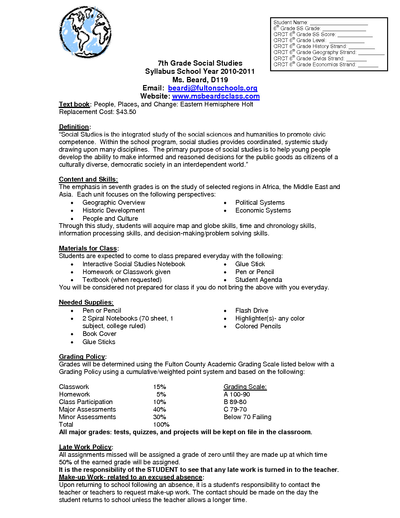 Hemisphere Worksheets 6th Grade Best social Stu S for 7th Graders Worksheet