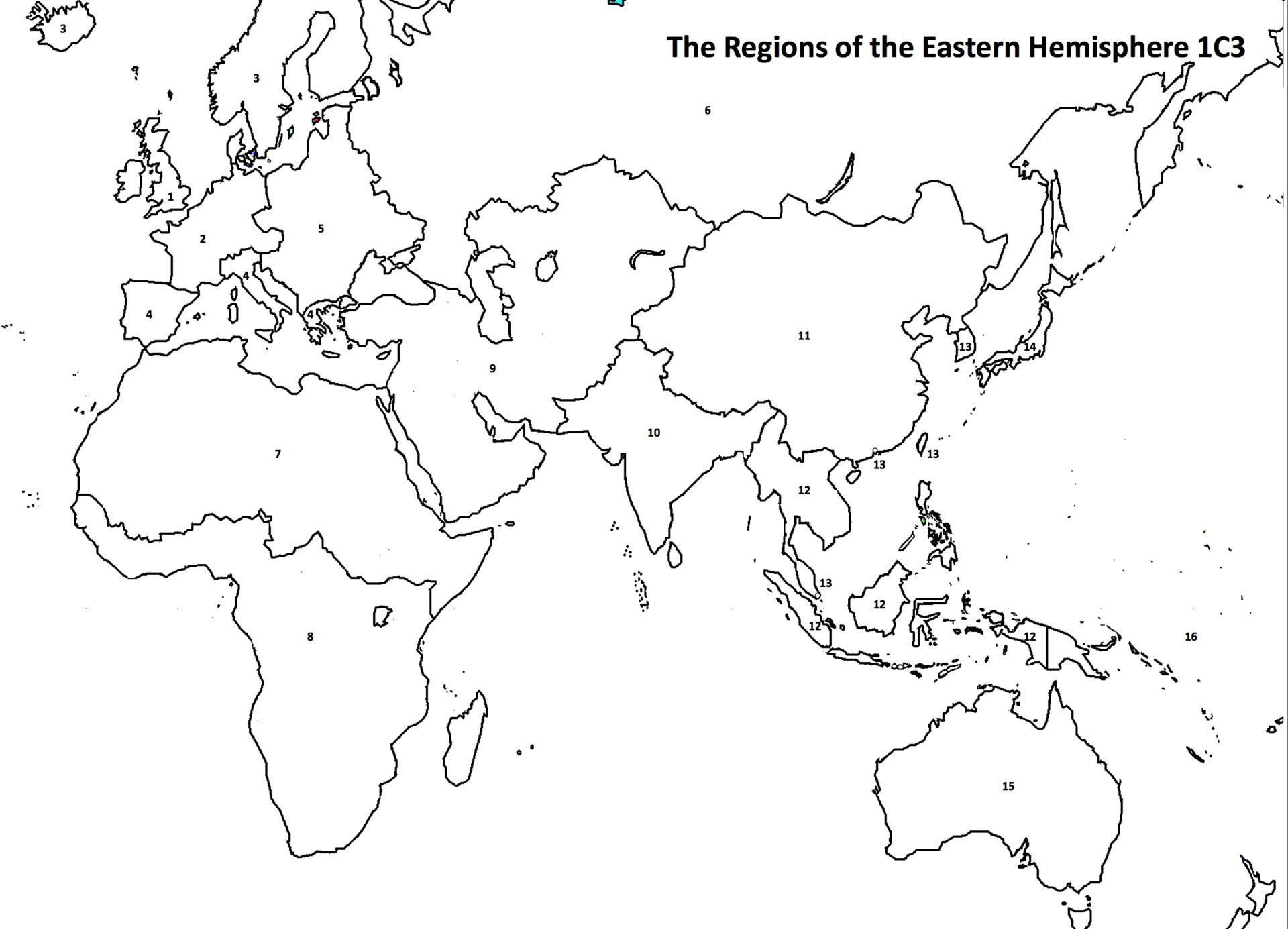 Hemisphere Worksheets 6th Grade Eastern Hemisphere Map social Stu S Climate Change