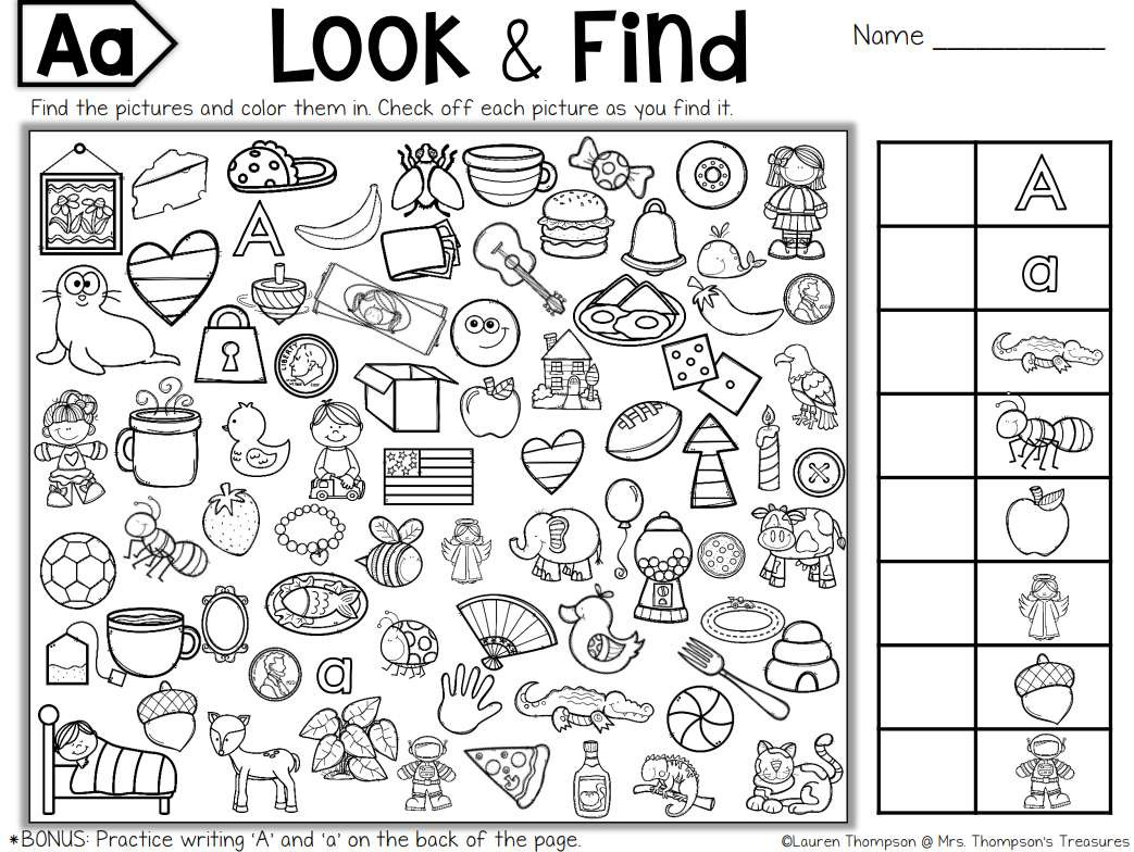 Hidden Picture Math Worksheets Free Printable Hidden Puzzles for Kids Objects Worksheets