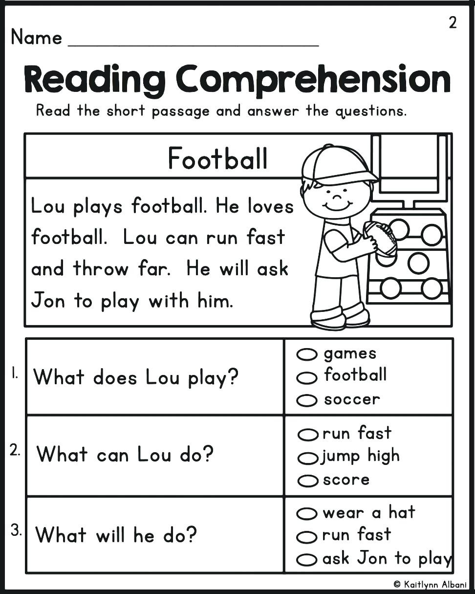 Holiday Reading Comprehension Worksheets Free Kindergarten Learning Stuff for Kindergarten Holiday Print