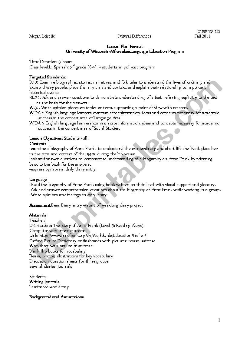 Holocaust Reading Comprehension Worksheets Holocaust Lesson Plan Esl Worksheet by Meggarz
