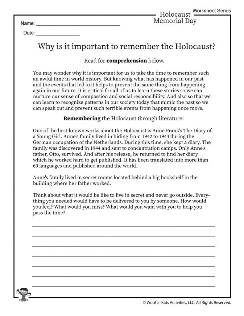 Holocaust Reading Comprehension Worksheets Pin On Teaching American History
