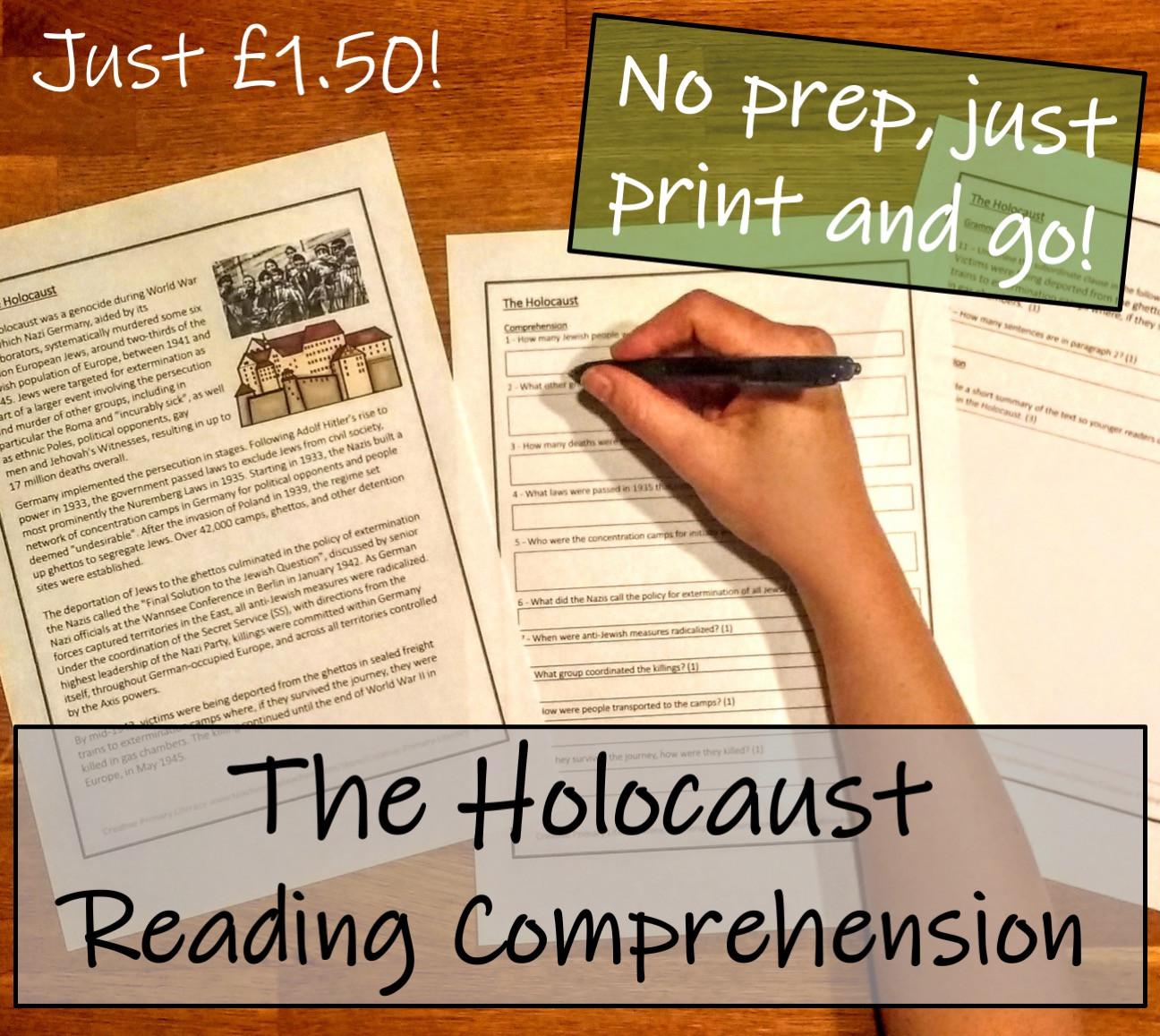 Holocaust Reading Comprehension Worksheets Uks2 History the Holocaust Reading Prehension Activity