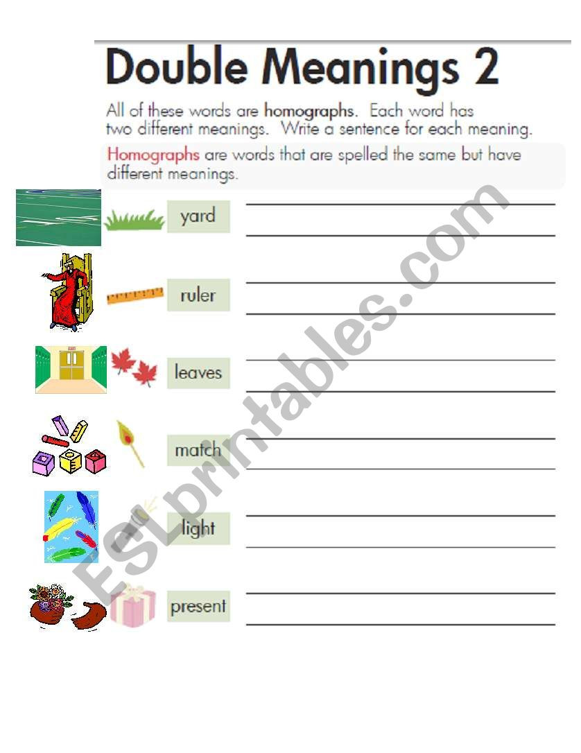 Homographs Worksheet 3rd Grade English Worksheets Homographs