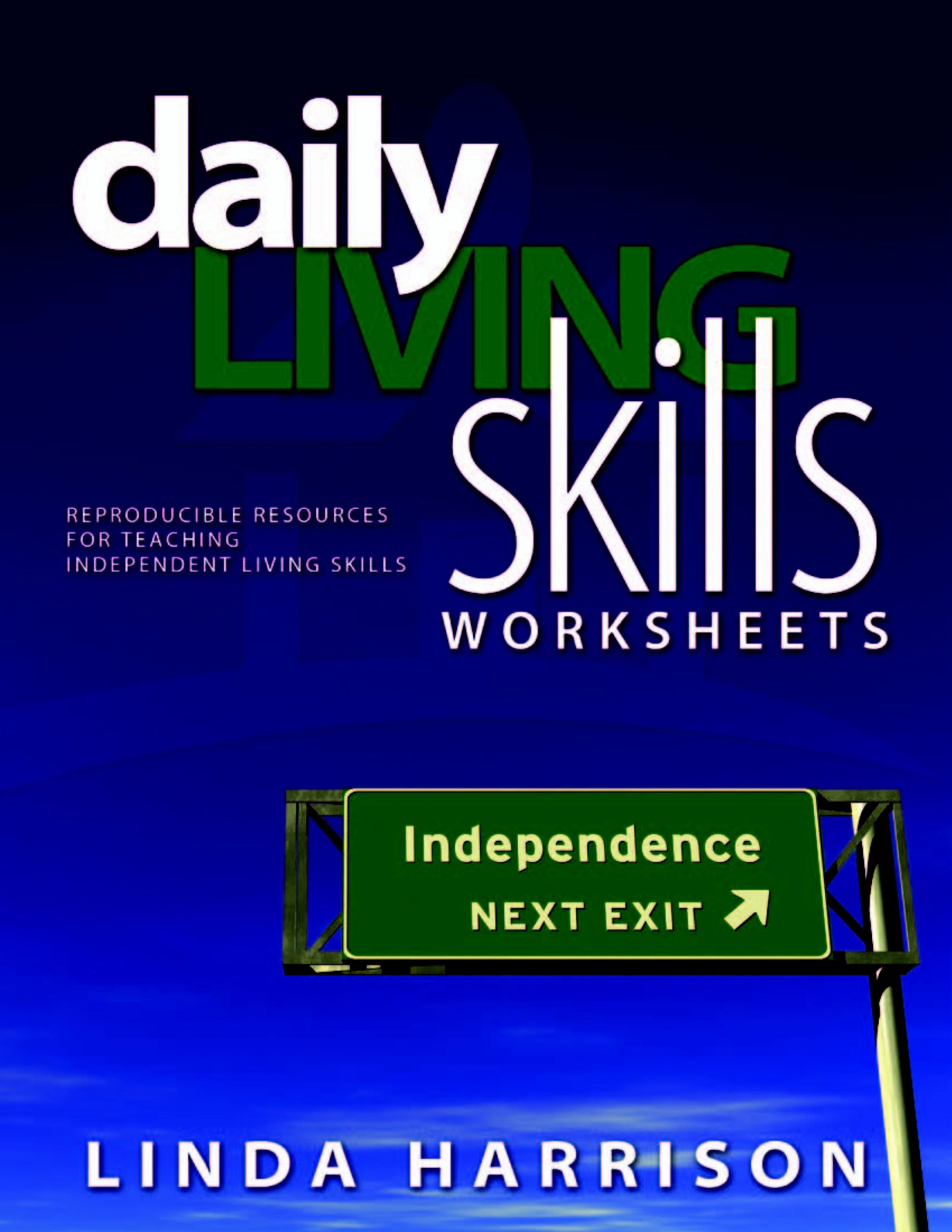 Independent Living Skills Worksheets Daily Living Skills – Resources for Teaching Daily Living Skills