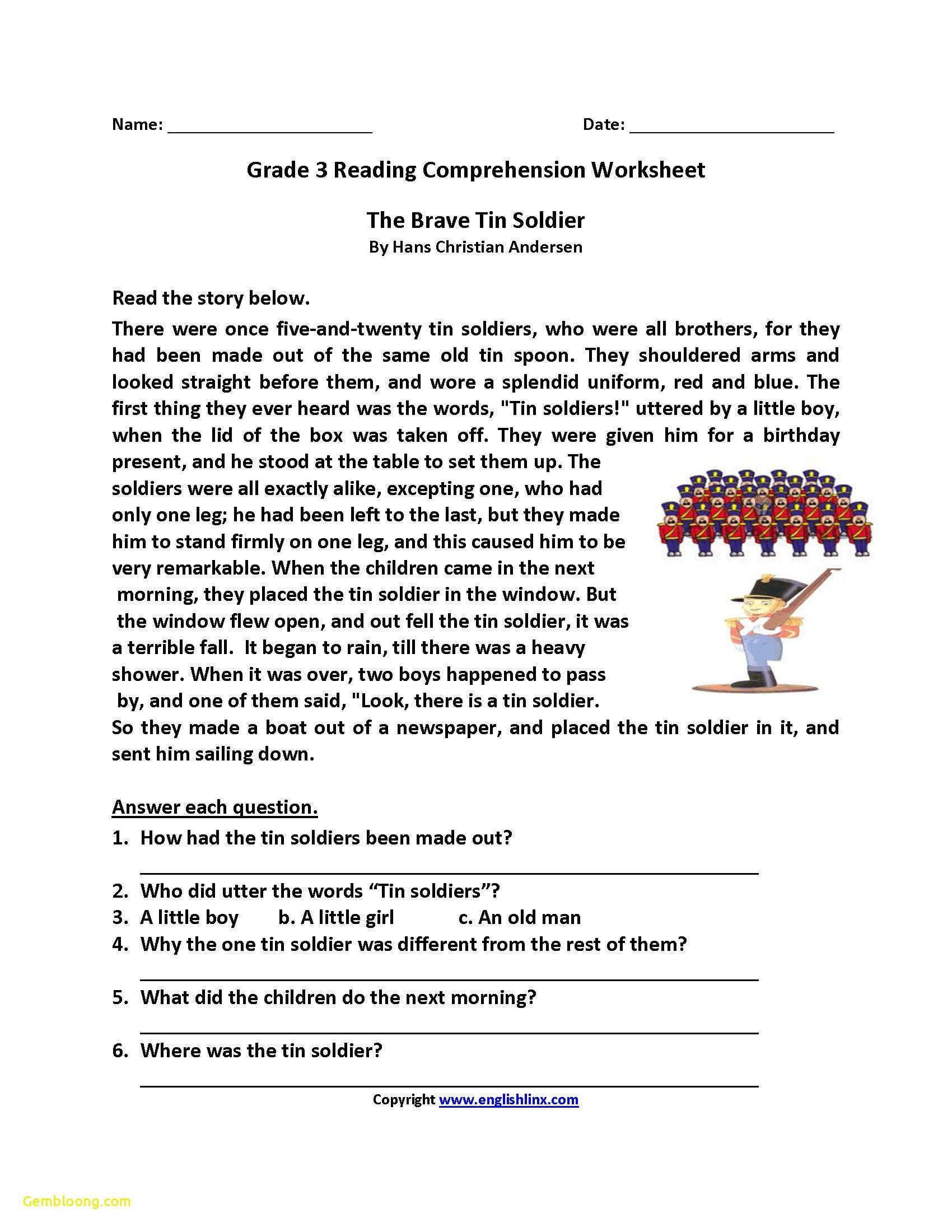 Inference Worksheets Grade 3 3 Worksheet Reading Prehension Worksheets Third Grade 3
