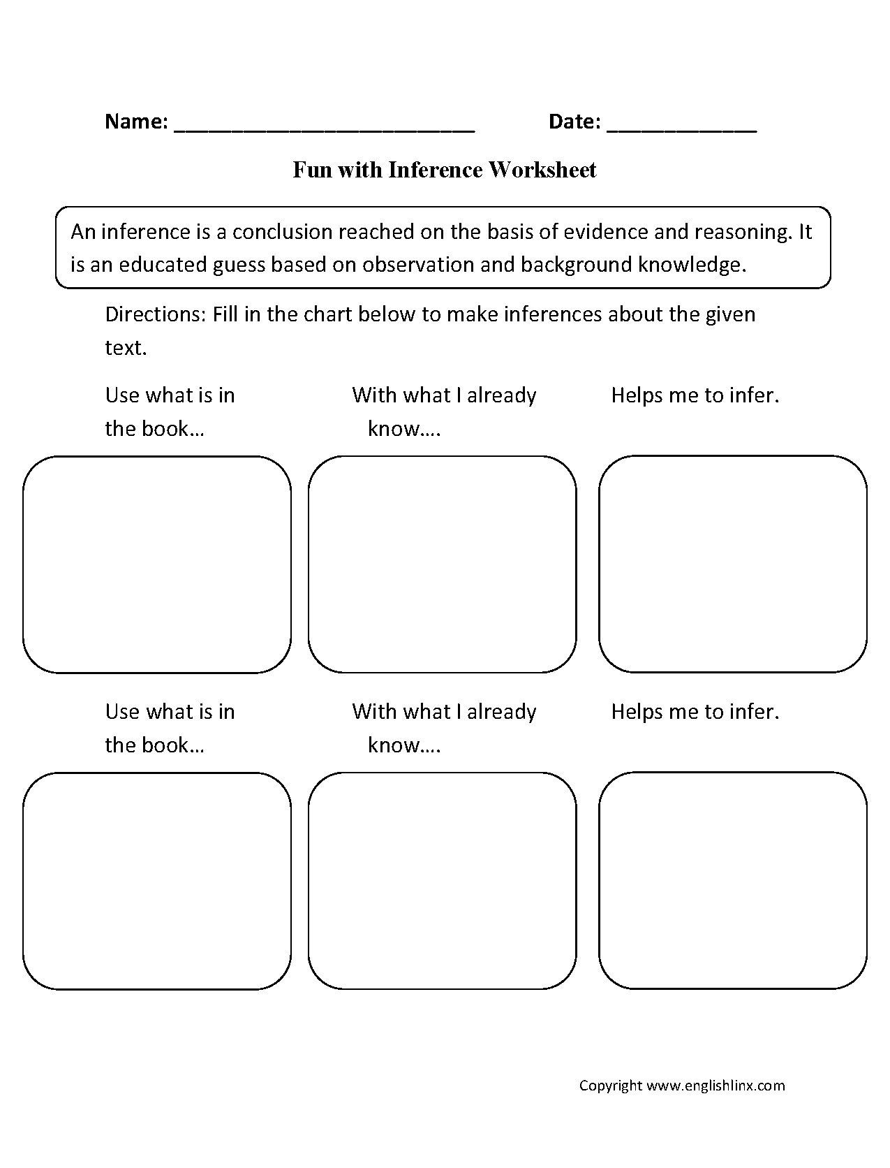 Inference Worksheets Grade 3 4 Worksheet Making Predictions with Text Evidence Fun with