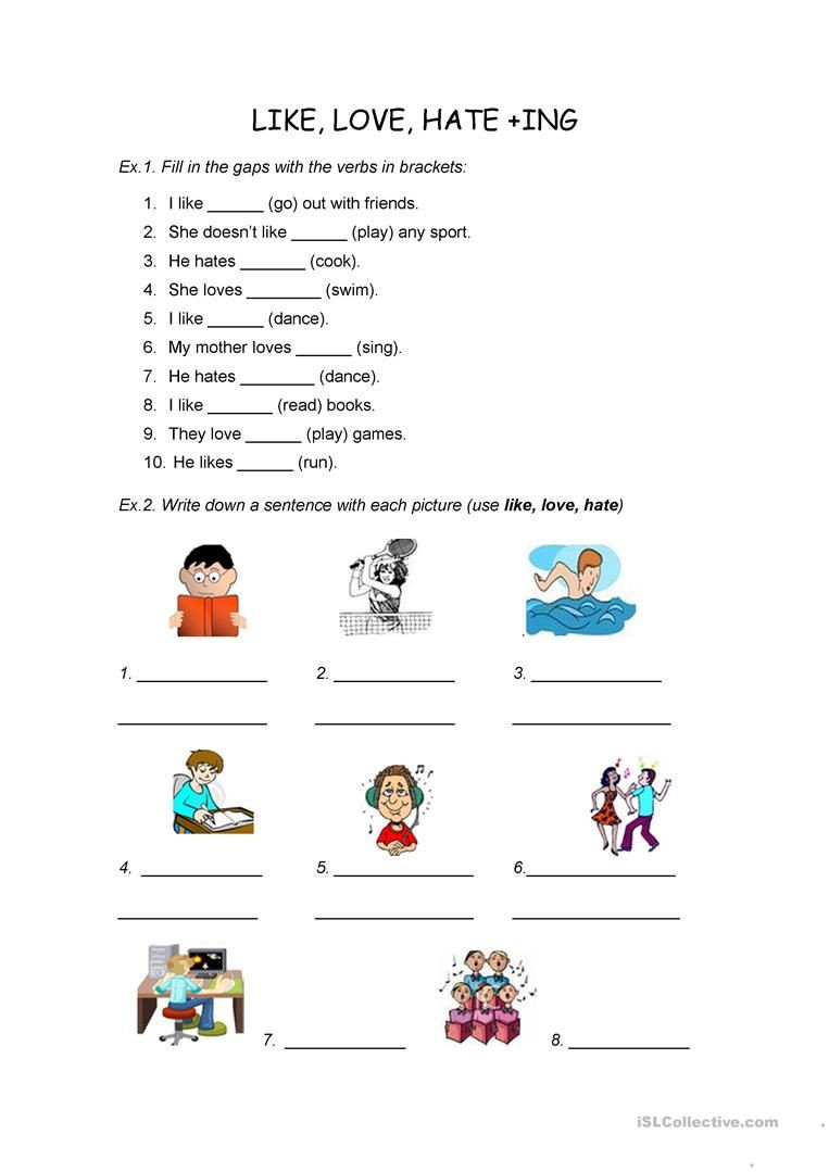 Ing Worksheets Grade 1 Pin En English