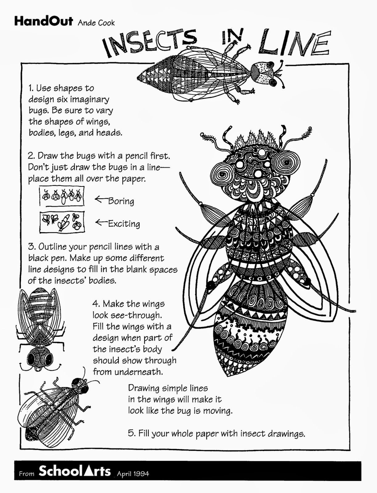 Insect Worksheets for First Grade Free Handout and Lesson for Insects In Line with