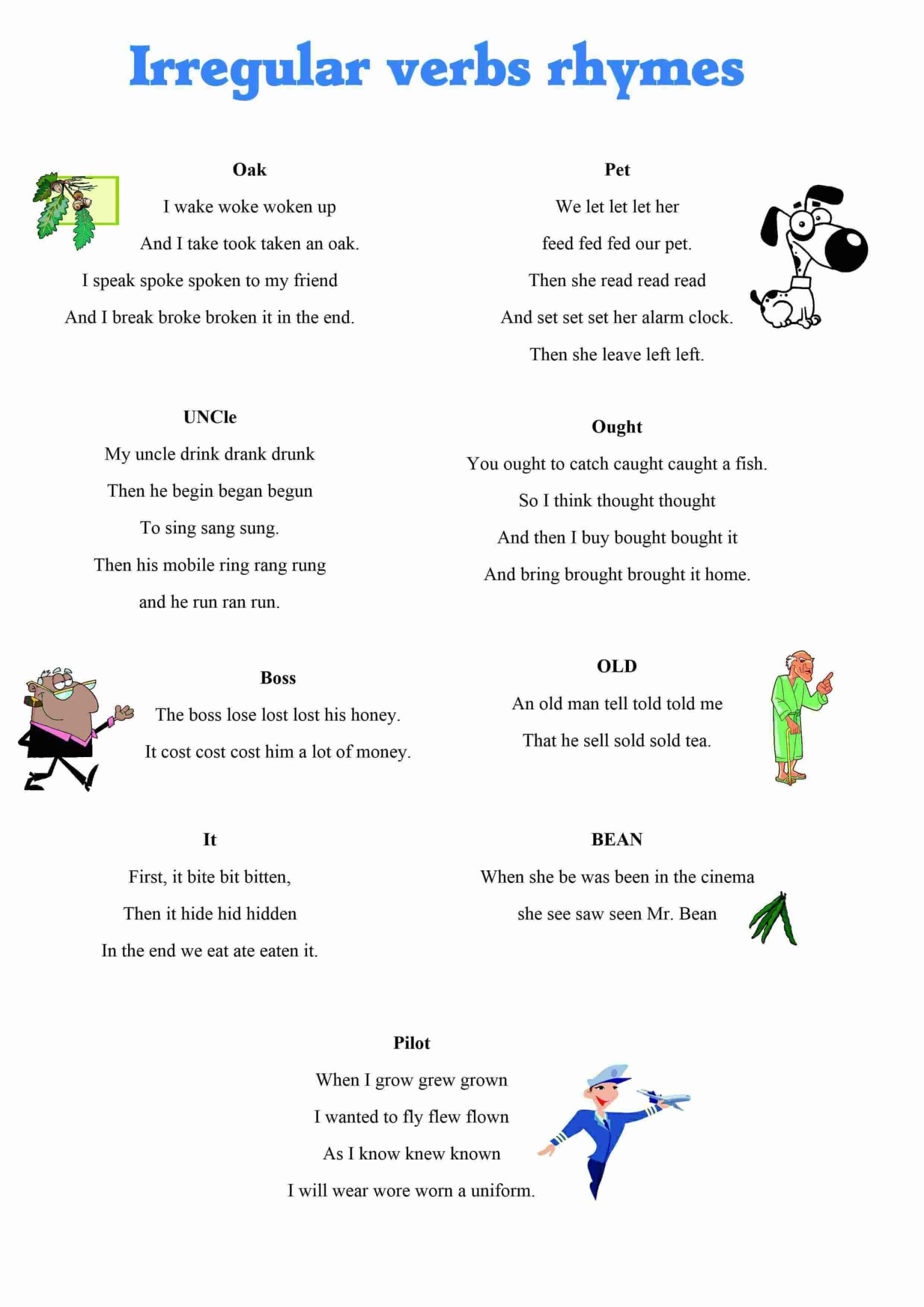Irregular Verbs Worksheet 2nd Grade Sadlock Page 158 English Grammar Printable Worksheets for