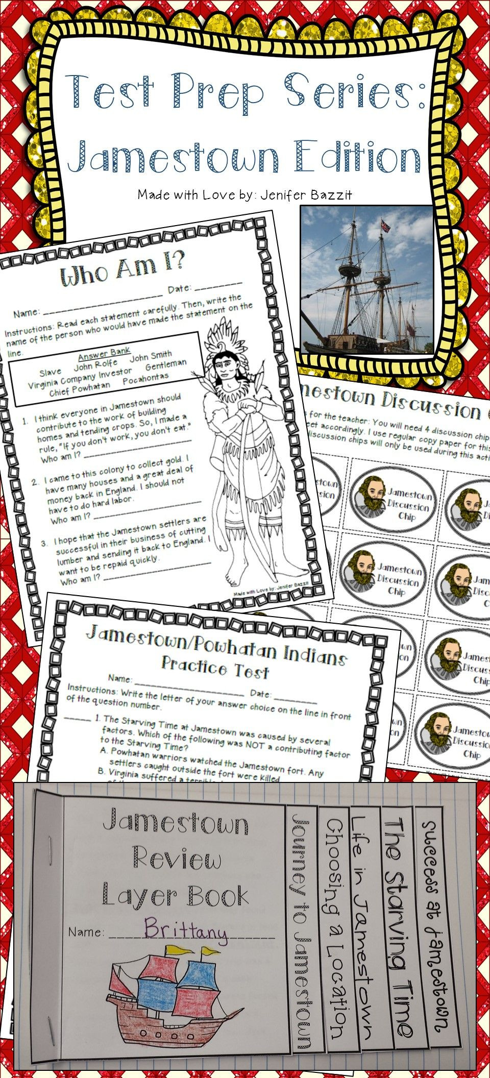 Jamestown Colony Worksheet 5th Grade Pin On Teachin