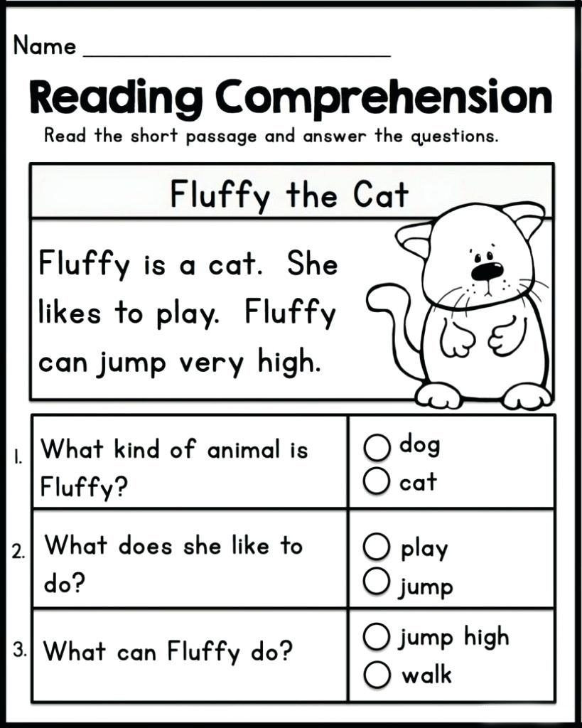 Kindergarten Reading Comprehension Worksheet Math Worksheet Kindergarten Worksheets Reading Math