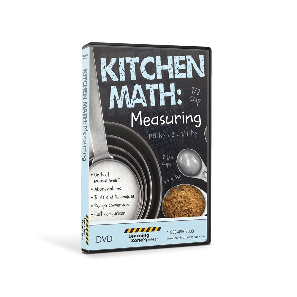 Kitchen Math Measuring Worksheet Kitchen Math Measuring Dvd