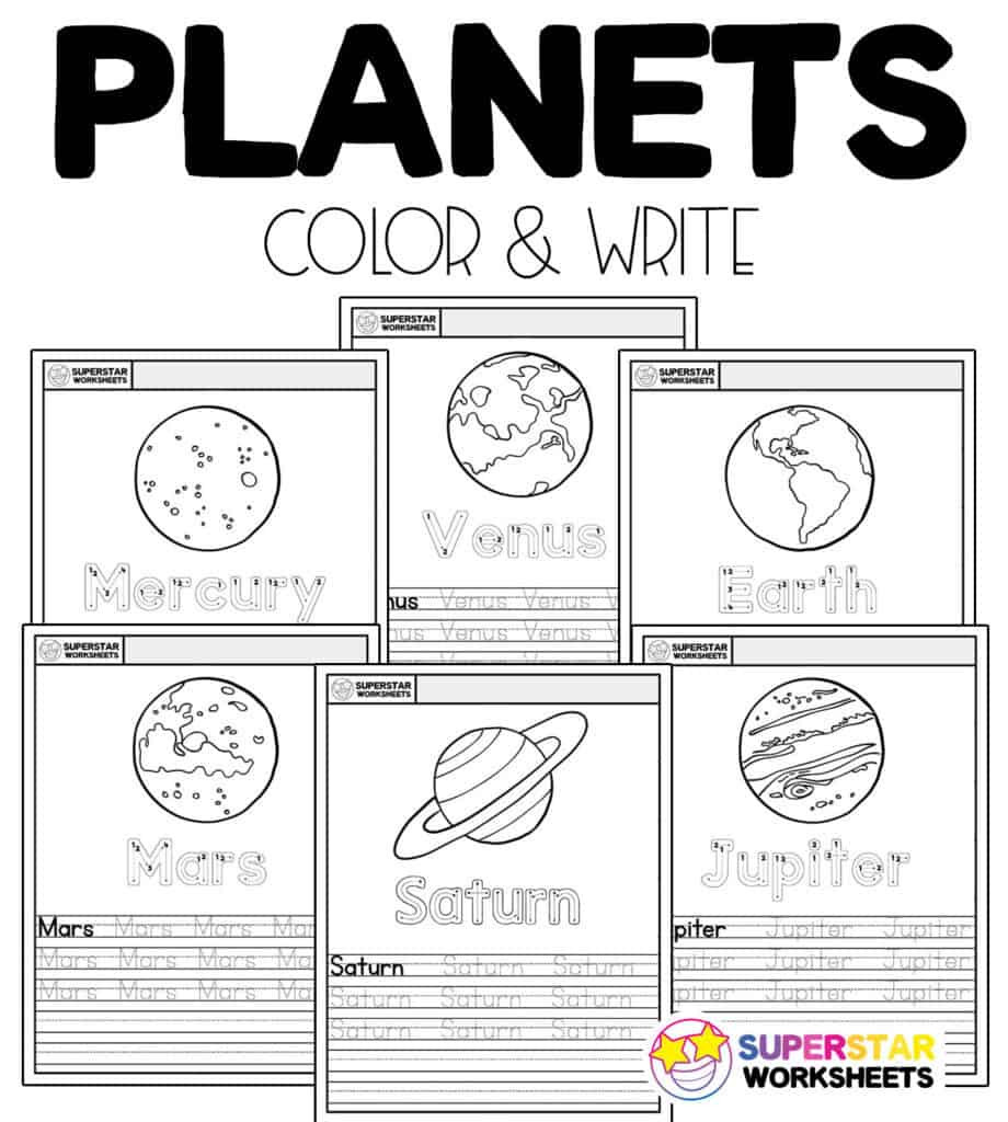 Landform Worksheets for 2nd Grade Planet Worksheets Superstar Worksheets