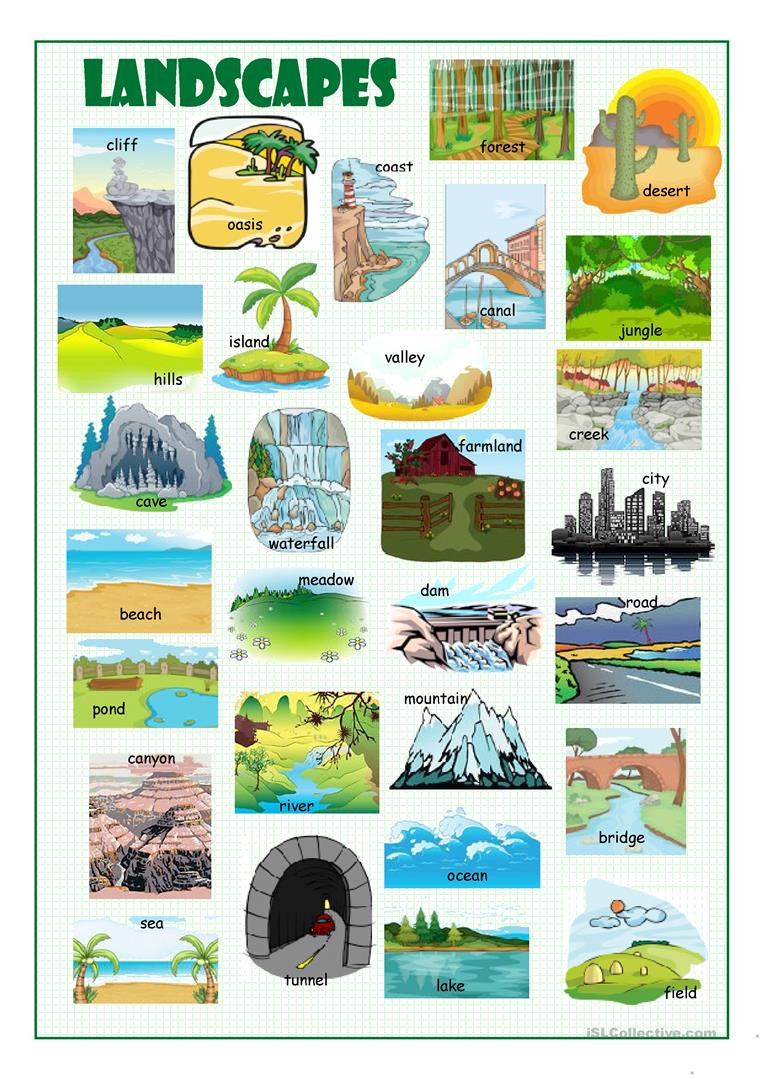 Landforms Worksheet Middle School English Esl Landscapes Worksheets Most Ed 19 Results