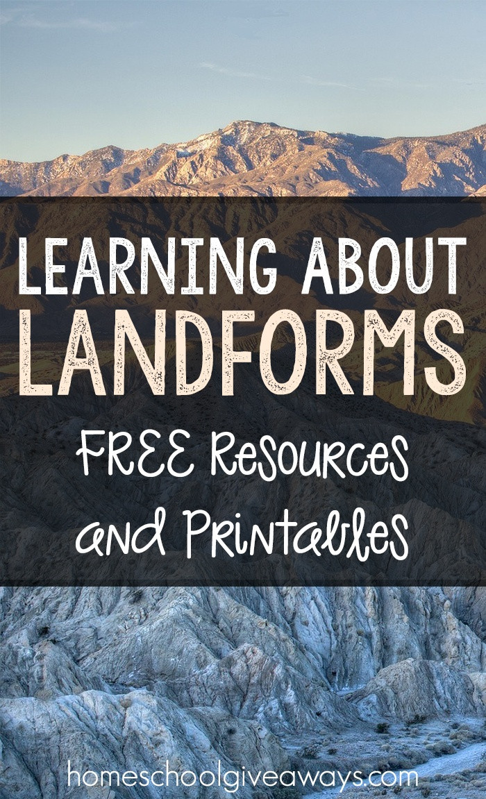 Landforms Worksheet Middle School Learning About Landforms Free Resources and Printables
