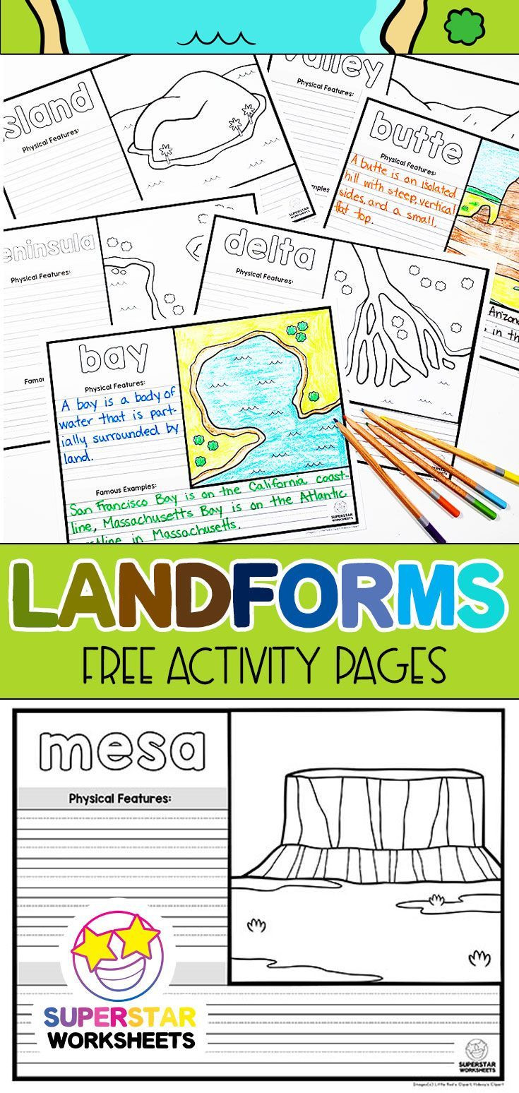 Landforms Worksheet Middle School Worksheets Archives Education Subject