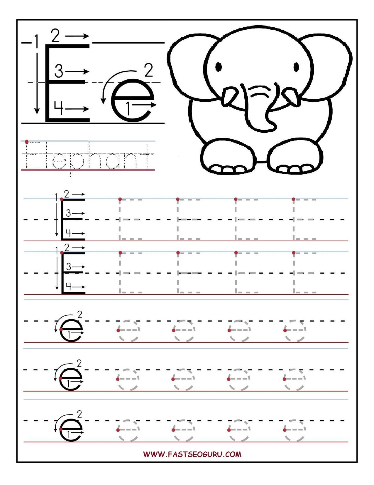 Letter G Tracing Worksheets Preschool Best Preschool Letter E Worksheet