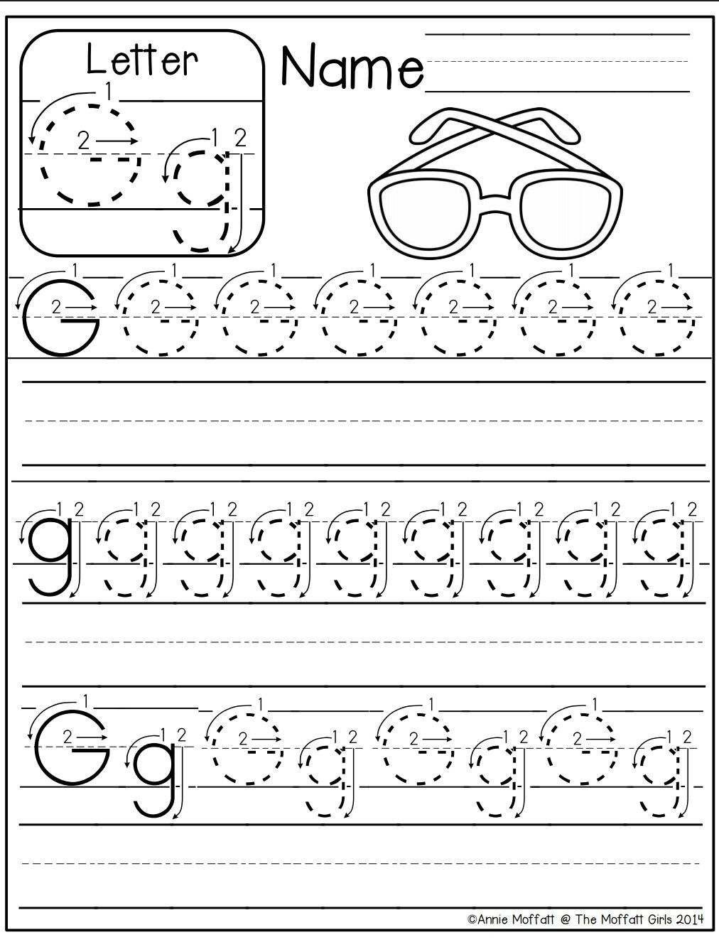 Letter G Tracing Worksheets Preschool Letter G Worksheet