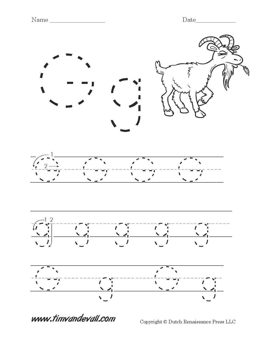 Letter G Tracing Worksheets Preschool Letter G Worksheets