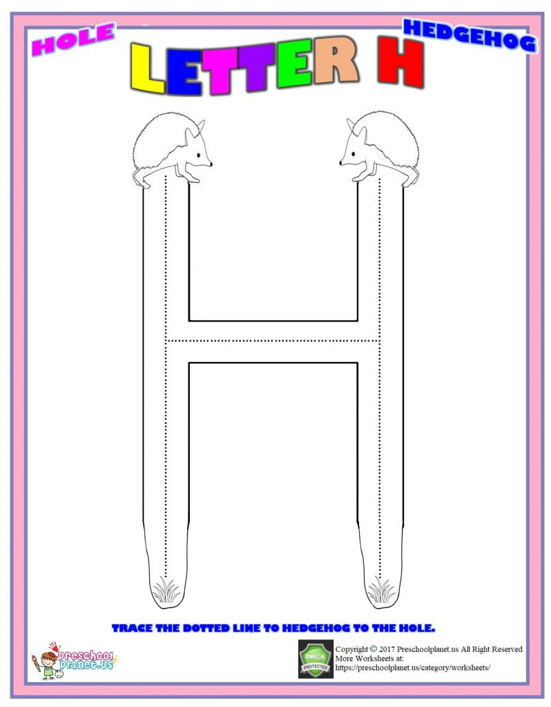 Letter H Worksheets Preschool Letter H Worksheet – Preschoolplanet
