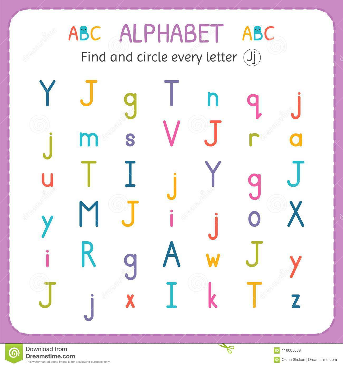 Letter J Worksheets for Preschool Find and Circle Every Letter J Worksheet for Kindergarten