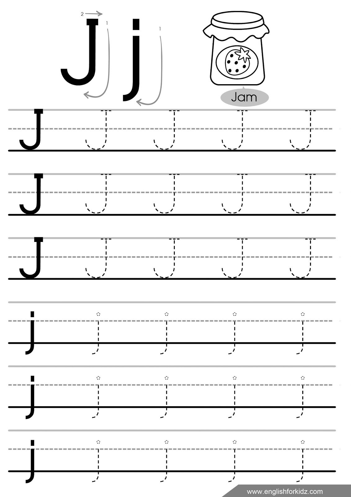 Letter J Worksheets for Preschool Letter J Worksheets Flash Cards Coloring Pages
