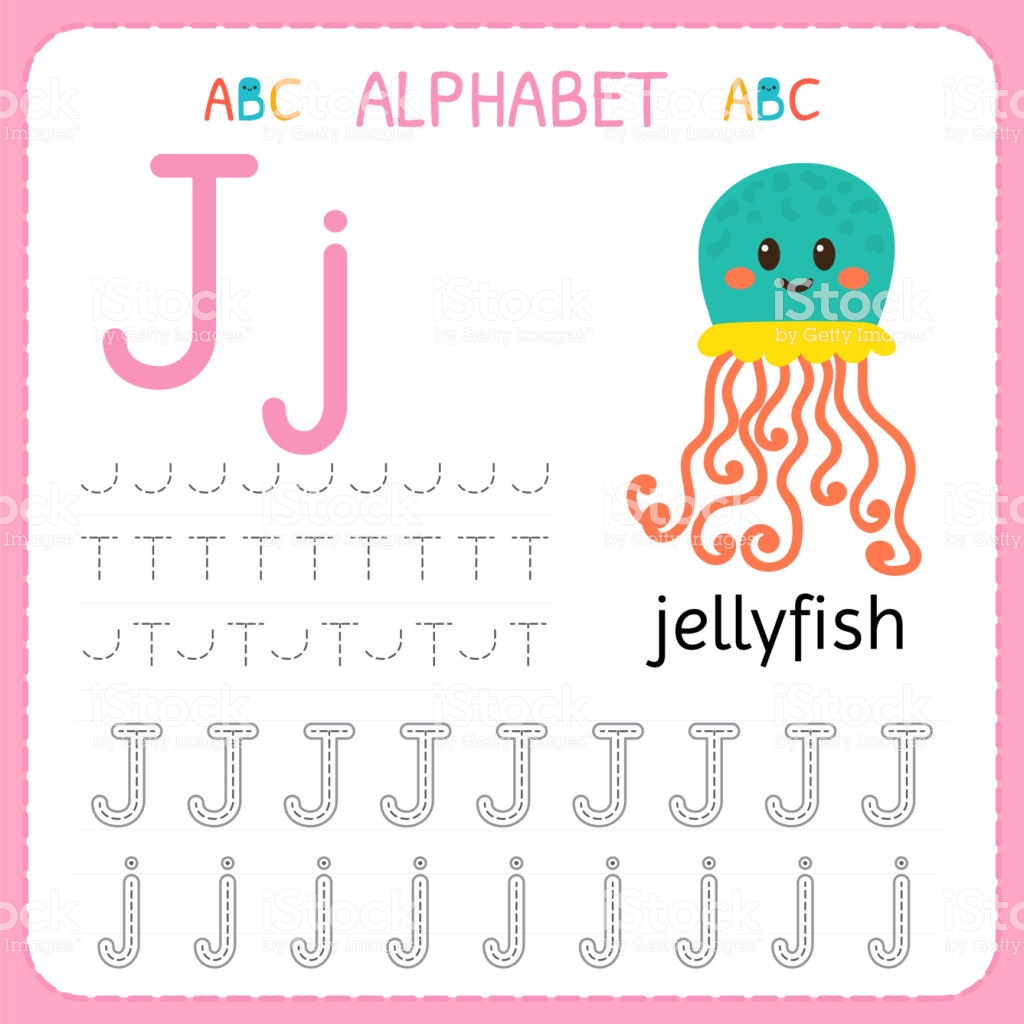 Letter J Worksheets for Preschool Worksheet Alphabet Tracing Worksheet for Preschool and
