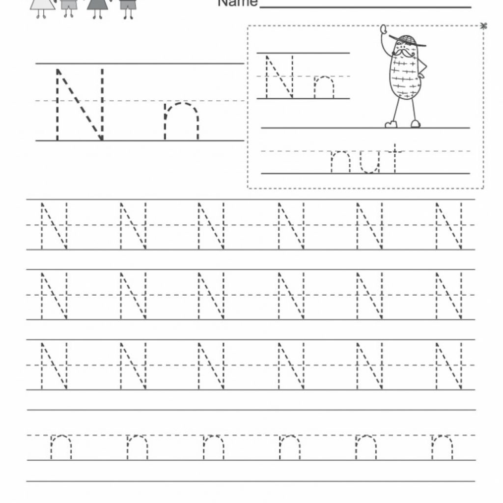 Letter N Worksheets for Preschool Free Letter N Worksheets Alphabet Free Preschool