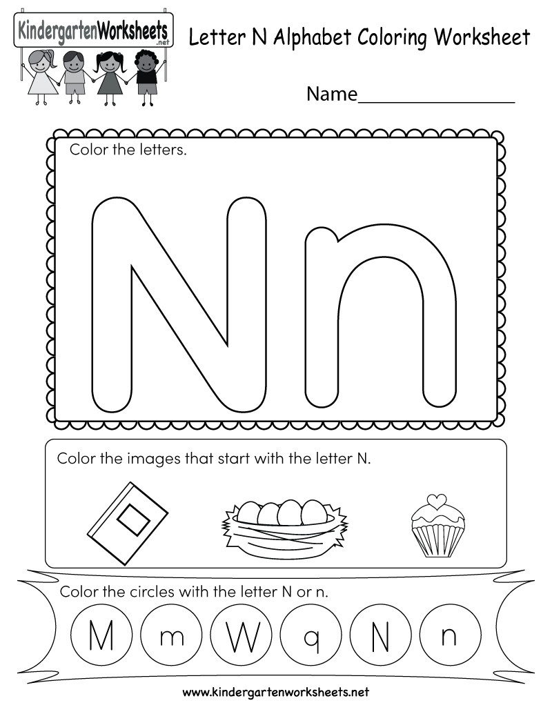 Letter N Worksheets for Preschool Letter N Worksheets for Download Letter N Worksheets