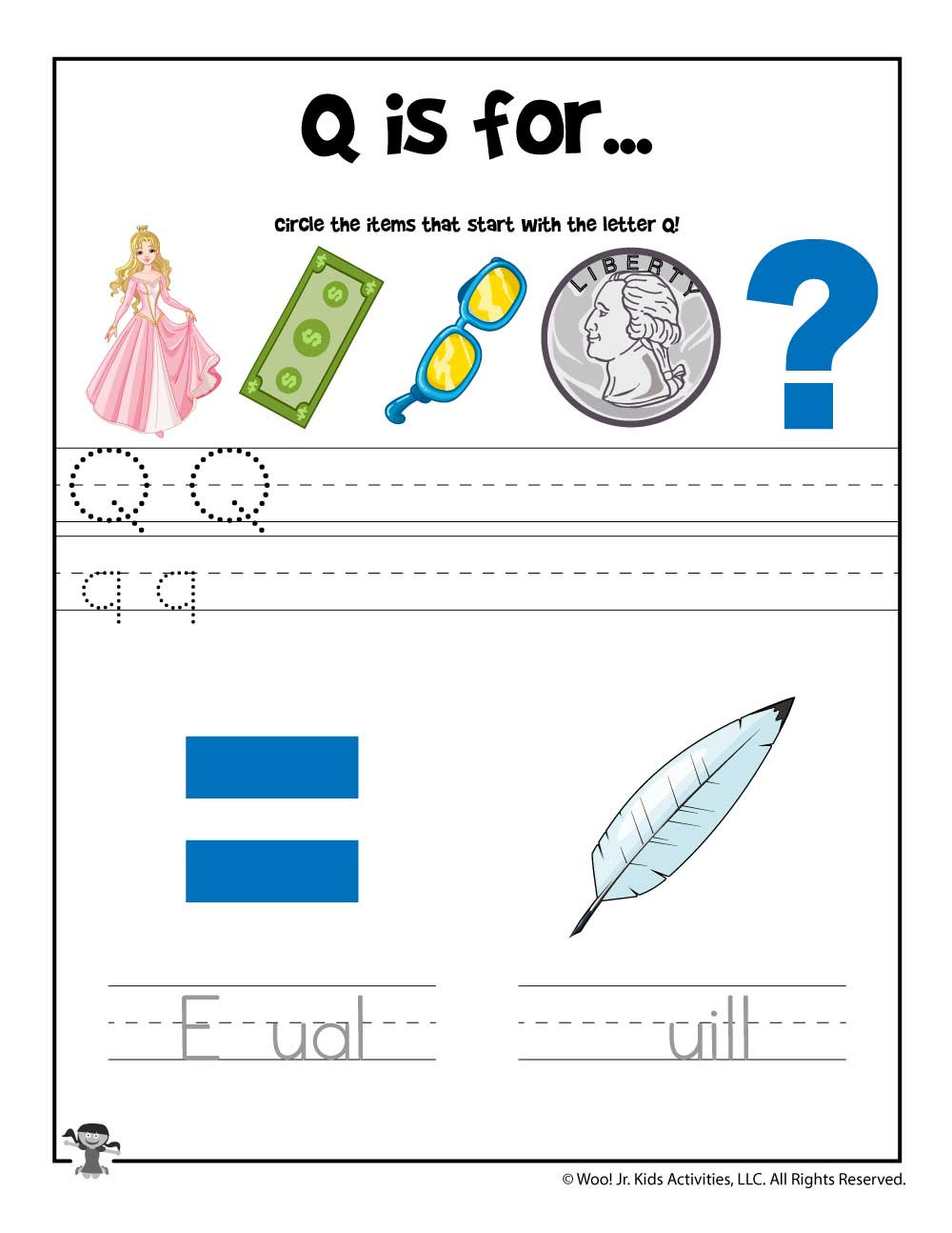 Letter Q Worksheets for Preschool Letter Q Phonics Recognition Worksheet