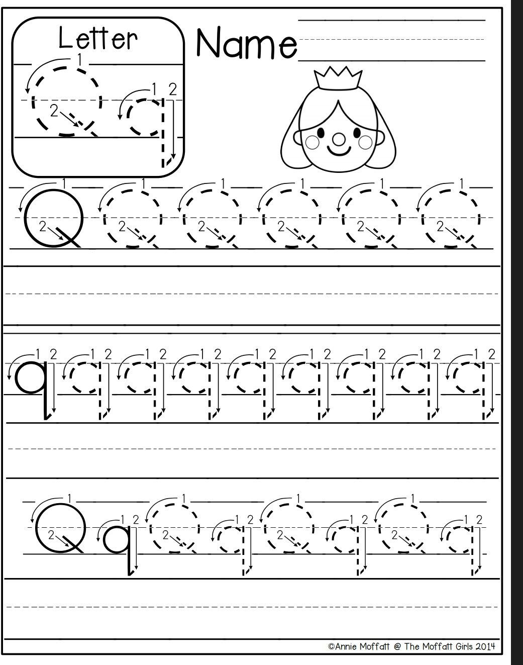 Letter Q Worksheets for Preschool Letter Q Worksheet